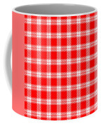 Red White Tartan Coffee Mug