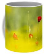 Red Wild Poppies Coffee Mug
