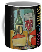 Red Wine And Cheese Poster Coffee Mug