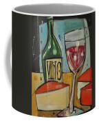 Red Wine And Cheese Coffee Mug