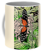 Red Winged Butterfly Coffee Mug