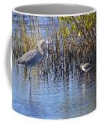 Reddish Egret And Yellowlegs Coffee Mug