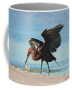 Reddish Egret Nabs A Fish Coffee Mug