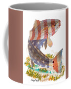 Redfish, White And Blue Coffee Mug