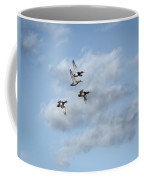 Redheaded Ducks Riding The Storm Coffee Mug
