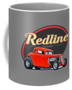 Redline Hot Rod Garage Coffee Mug