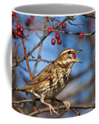 Redwing With Berry Coffee Mug