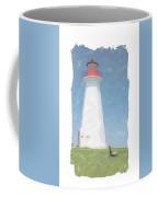 Reflect At Cape George Lighthouse Coffee Mug
