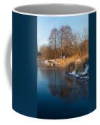 Reflecting In Threes - Three Trees By The Lake Coffee Mug