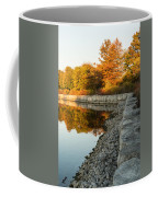 Reflecting On Autumn - Gray Rocks Highlighting The Foliage Brilliance Coffee Mug