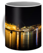 Reflecting On Malta - Cruising Out Of Valletta Grand Harbour Coffee Mug