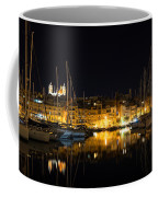 Reflecting On Malta - Senglea Golden Night Magic Coffee Mug