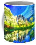 Reflection In Merced River Of Yosemite Waterfalls Coffee Mug