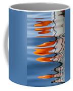 Water Reflection Of Orange Blobs And Black Zig Zagging Lines Coffee Mug