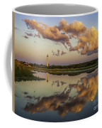 Reflection Of Clouds And Lighthouse Coffee Mug