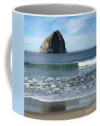 Reflection Of Haystock Rock  Coffee Mug