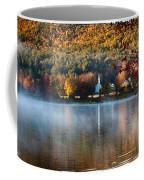 Reflection Of Little White Church With Fall Foliage Coffee Mug
