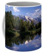 Reflection Of The Teton Mountans Coffee Mug by Richard Nowitz