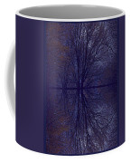 Reflection On Trees In The Dark Coffee Mug