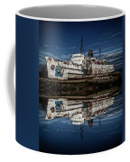 Reflections From The Duke Of Lancaster Ship  Coffee Mug