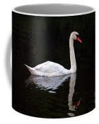 Reflections Of A Swimming Swan Coffee Mug