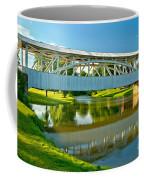 Reflections Of The Halls Mill Covered Bridge Coffee Mug