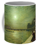 Reflections On The Thames Coffee Mug by John Atkinson Grimshaw