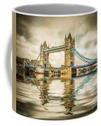 Reflections On Tower Bridge Coffee Mug