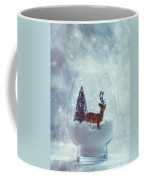 Reindeer In Glass Snow Globe  Coffee Mug