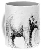 Rembrandt: Elephant, 1637 Coffee Mug
