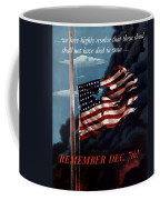 Remember December Seventh Coffee Mug by War Is Hell Store
