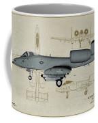 Republic A-10 Thunderbolt II - Profile Art Coffee Mug