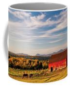 Red Barn Autumn Landscape Coffee Mug