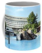 Resort With Swimming Pool Summer Vacation Scene Coffee Mug