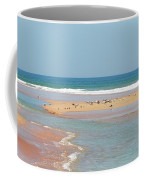 Resting Seagulls On A Sandbar Coffee Mug