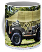 Restored Willys Jeep And Tent At Fort Miles Coffee Mug