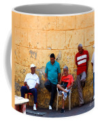 Retired Men And Yellow Wall Cartegena Coffee Mug