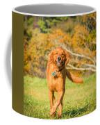 Retriever On The Run Coffee Mug
