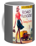 Retro 1950s Book Cover Floozie Bimbo Old School Nympho Coffee Mug