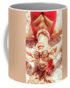 Retro 50s Beach Pinup Girl Coffee Mug