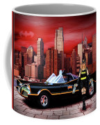 Retro Bat Woman Coffee Mug