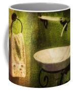 Retro Bathroom Grunge Coffee Mug