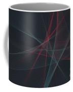 Retro Computer Graphic Line Pattern Coffee Mug