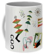 Retro Mid Century Modern Atomic Inspired Coffee Mug