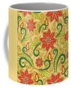 Retro Floral Seamless Pattern Coffee Mug