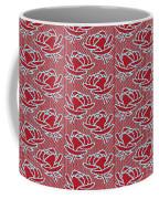 Retro Red Pattern Coffee Mug