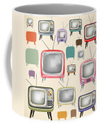 retro TV pattern  Coffee Mug by Setsiri Silapasuwanchai