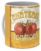 Retro Veggie Labels 4 Coffee Mug by Debbie DeWitt