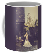 Retro Wedding Couple At Australian Farm Cottage Coffee Mug