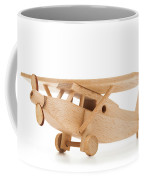 Retro Wooden Airplane Isolated On White Background Coffee Mug